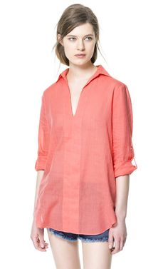 Image 1 of V-NECK BLOUSE from Zara