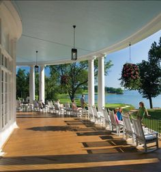 Can't be beat: Veranda seating at the Otesaga Resort Hotel, Cooperstown, NY only a few blocks from Baseball Hall of Fame. Lovely hotel we have stayed at frequently.