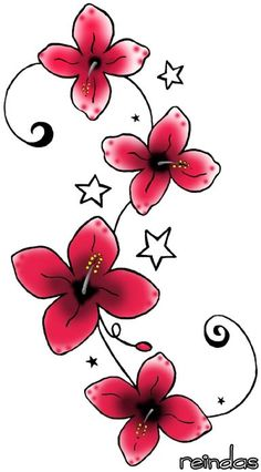 Tattoos are a great way to express yourself. Check out this selection of tattoo pictures and articles about tattoo designs. Simple Flower Design, Simple Flower Tattoo, Flower Tattoo On Side, Small Flower Tattoos, Simple Flowers, Flower Tattoo Designs, Tattoo Flowers, Red Flowers, Flower Designs