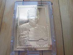 1992 Promint NOLAN RYAN 22K Gold Baseball Card #002293 In Nice Plastic Case Mint