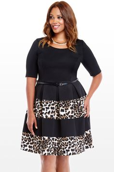 Animal Colorblock Dress. I wouldn't normally consider animal print for myself, but this is nice and tame.