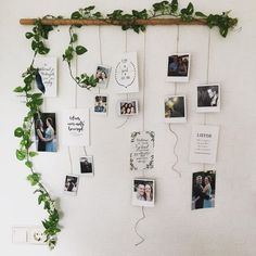 I really want to make this in my new room!- Ik wil dit heel graag maken in mijn nieuwe kamer! Dit ziet er super leuk uit:) I really want to make this in my new room! This looks super nice :] - Polaroid Photo Booths, Polaroid Photos, Polaroid Display, Polaroid Pictures Display, Display Pictures, Polaroids On Wall, Polaroid Crafts, Hanging Polaroids, Polaroid Wall