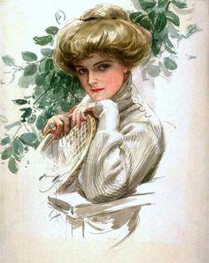 Fisher, Harrison (b,1877)- Tennis Sweater -2b
