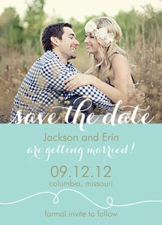 Save the date idea. Love how simple this is!