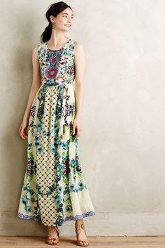 Hemant & Nandita Embroidered Canaria Maxi Dress #anthroregistry