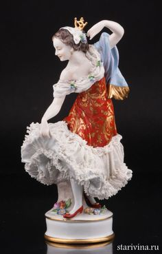 antique volkstedt porcelain dresden lace ballerina. Black Bedroom Furniture Sets. Home Design Ideas
