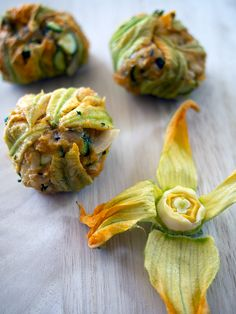 Zucchini Flower Fritters. You may call them courgette or squash flowers, not matter what, easy peasy recipe!