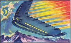 Future air travel by Sammelalben - Zukunftsfantasien, ca. 1930
