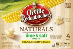 Portion controlled bags of all natural popcorn goodness... and the Lime & Salt is DELICIOUS!