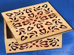 Scroll Saw Patterns :: Boxes -