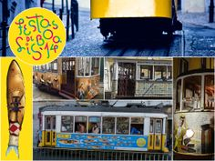 #Lisbon' Elevators and Trams are already dressed properly to Festas de Lisboa! And, what about you? There's no dress code ... only good mood! www.visitlisboa.com