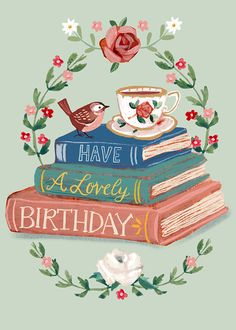 Happy Birthday Greetings Friends, Happy Birthday Art, Happy Birthday Wallpaper, Happy Birthday Messages, Happy Birthday Pictures, Birthday Fun, Happy Birthday Wishes Flowers, Birthday Cards Images, Vintage Birthday Cards