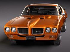 pontiac gto 1970 3d model max obj 3ds fbx lwo lw lws 2