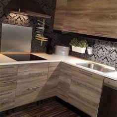 d-c-fix self-adhesive film Sonoma oak looks stunning on kitchen cabinets! . Le film adhésif d-c-fix bois chêne Sonoma est toujours du plus bel effet sur des meubles de cuisine ! . #dchome #dcfix #kitchen #cuisine #kitchenrenovation #renovation #customized #customisation #decoration #diy #doityourself #transformation #makeover #wood #bois #sonoma #oak #chene #kitchencabinets #furniture #meuble #interior #interiordesign #inspiration #homedecor #homedecoration #homesweethome #homestaging Oak Kitchen, Floor Coverings, Sticky Back Plastic, Home Decor, Kitchen, Sonoma Oak, Home Diy, Wood Design, Dc Fix Kitchen
