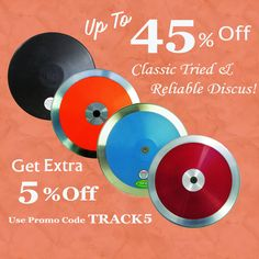 Throw far and throw frequently with our discus 👉https://www.tracknfieldgear.com/throws-equipment/discus.html