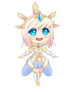 Image result for elementalist Lux light LOL chibi