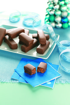 Chocolate Caramel Candy Bars Recipe from Taste of Home