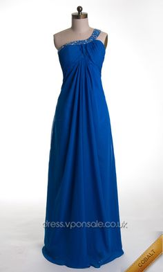 Blue Bridesmaid Dresses Blue Bridesmaid Dresses Blue Bridesmaid Dresses Backless Beaded One Shoulder Long Prom Dress VPW446