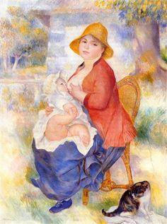 1886 - Motherhood (Woman Breast Feeding Her Child) - Pierre-Auguste Renoir