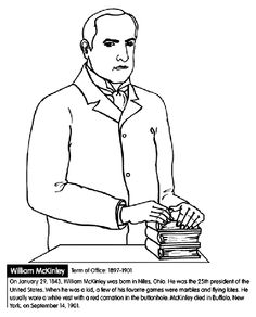 us president william mckinley coloring page