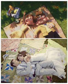 Boda inspirada en 'Up': foto del picnic