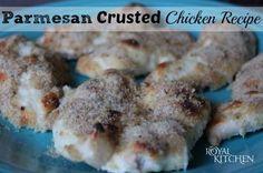 Parmesan Crusted Chicken Recipe #recipe #chicken #cheese