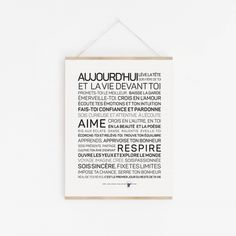 Affiche aujourd'hui Happy 30th Birthday, Image Fun, Printable Quotes, Positive Attitude, Letter Board, Affirmations, Positivity, Messages, Type 3
