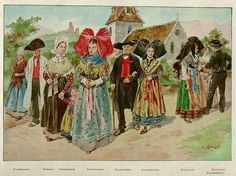 THE FRENCH REGIONS: ALSACE Music and traditions : The folklore is also rich with its music (closed to the traditional german or austrian music) and its costume, especially its headdress with black bow.