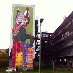 5 x 16 metros finalizado!!!! Este foi o meu maior mural, muito grato a todos pelo apoio, São Paulo, uma cidade que tem mais predios que arvores precisa de mais projetos como este, valeu @_revivarte ✌️ | Flickr - Photo Sharing!