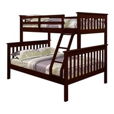 Donco Kids Mission Twin / Full Bunk Bed ($646) ❤ liked on Polyvore featuring home, children's room, children's furniture and white