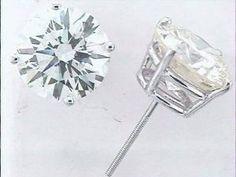 8.39 CT Diamond Stud Earrings