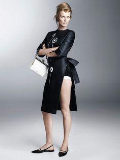 Eva Herzigova photographed by Steven Meisel.  Photos courtesy of Prada