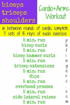 Cardio + Arms Workout: Targets biceps, triceps and shoulders
