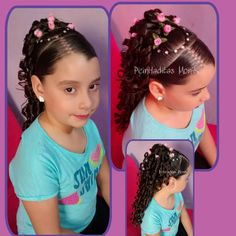 Childrens Hairstyles, Cute Hairstyles For Kids, Flower Girl Hairstyles, Dress Hairstyles, Hairstyles For School, Braided Hairstyles, Girl Hair Dos, Braids For Kids, Beautiful Little Girls