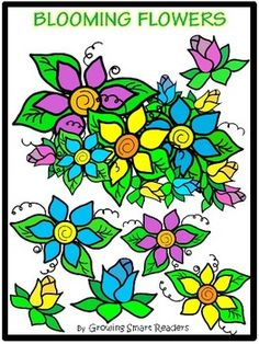 Free!! Blooming Flowers Clip Art