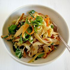 Tofu, herb and rice noodle salad - My darling lemon thyme