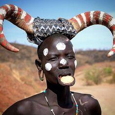 Mursi tribe woman, Ethiopia, Omo Valley