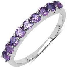 0.75 Carat Amethyst .925 Sterling Silver Ring from The Luxe Store