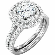 """She will say """"YES""""!   While you can set with a diamond center, you can also create a more original design with a precious color stone such as Sapphire!  How beautiful would that be!"""