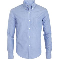 Band of Outsiders Lightweight Sport Shirt (172.220 COP) ❤ liked on Polyvore featuring men's fashion, men's clothing, men's shirts, men's casual shirts, men, mens woven shirts, mens sports t shirts, mens button front shirts, mens cotton shirts and mens blue shirt