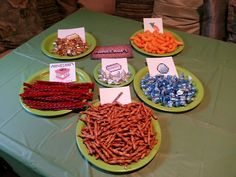 Snacks for minecraft party so easy...kids loved!