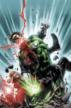 Green Lantern vs Red Lantern