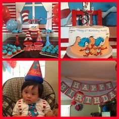 Andres' Cat in the Hat Birthday party