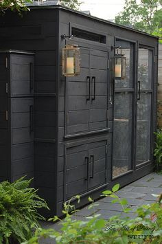 black-gold-sophisticated-chicken-coop