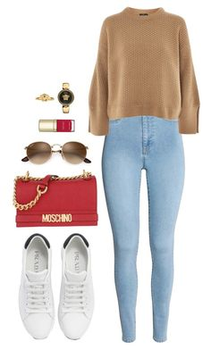 Street style by dalma-m on Polyvore featuring polyvore fashion style Topshop Prada Moschino Versace Dolce&Gabbana clothing