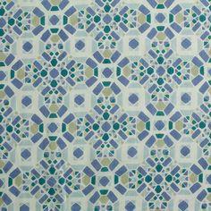 Bio-Stoffe - Bio-Batist grün/blau - ein Designerstück von tusentack bei DaWanda