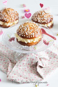 Moi, gourmande ?: Mini tartes tropéziennes Doughnut, Cookies, Breakfast, Desserts, Blog, Muffins, Inspiration, Mini Pie Pans, Sugar