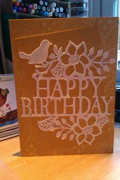 Quick birthday card, cut on Cameo