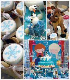 Frozen themed birthday party with Lots of Really Fun Ideas via Kara's Party Ideas