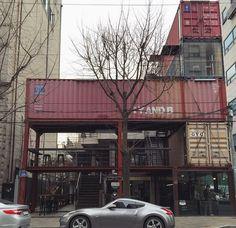 Coffee conhas- container cafe in Korea